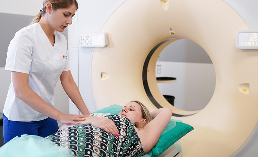 КТ - поиск метастазов в костях, легких, лимфоузлах, грудном и поясничном отделе позвоночника, костях таза